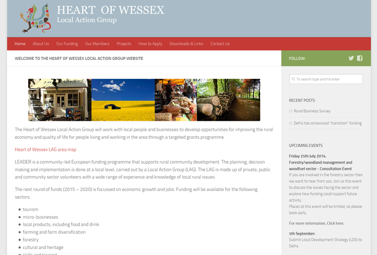 Heart of Wessex website